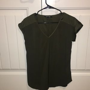 Forest Green Statin Blouse